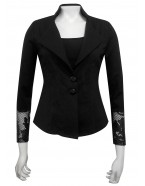 Four Girlz - Tasmin ponti and lace jacket with tail.