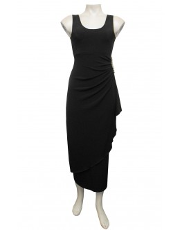 Four Girlz - Isabella Jersey Ruching Dress with Side Split.
