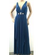 Miss Me - Soft Knit Maxi Dress with Diamontee Trim