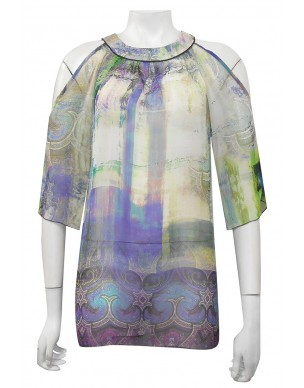 Four Girlz - Anna high neck double layer chiffon top.