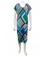 Four Girlz - Donna print jersey cut out round hem dress.