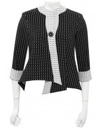 Four Girlz - Clara hi-low angled jacket in bubble knit.