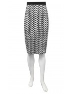 Four Girlz - Grace print knit skirt with contrast band.