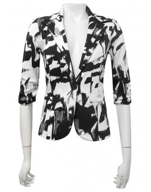 Four Girlz 9624 - Mika Printed Sateen Blazer