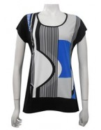 Four Girlz - Doris contrast knit top.
