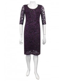 Four Girlz - Patricia lace dress with elbow length sleeves.