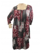 Room To Move 1346 - Daniella soft knit overlay tunic dress with 3/4 sleeve