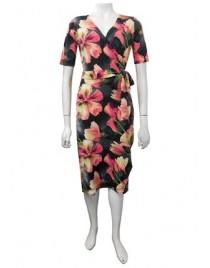 Four Girlz 11288 - Bridie print wrap dress.