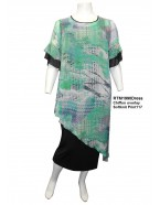 ROOM TO MOVE 1990SET - Heather chiffon over dress with sleeve frills.