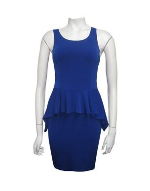 Miss Me - SOFTKNIT PEPLUM DRESS