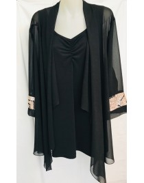 Room To Move 2452 - Tegan Chiffon Cardi With Sequence