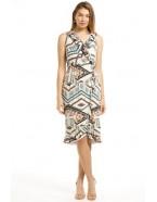 Sister Sister 11646 - Susan Frill Dress printed softknit