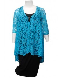 Room To Move 2414 - Ruth Royal Blue lace jacket.