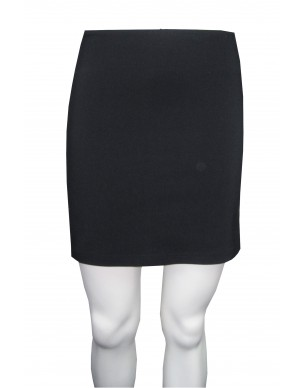 Wet Seal - Bengaline plain mini skirt with elastic waist and side splits.