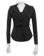 Miss Me - Jenny double collar jacket with waist tie