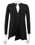 Miss Me - Alannah ponti long angle jacket with 1 button.