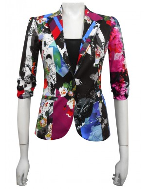 LIMITED - Miss Me - Mika Printed Sateen Blazer